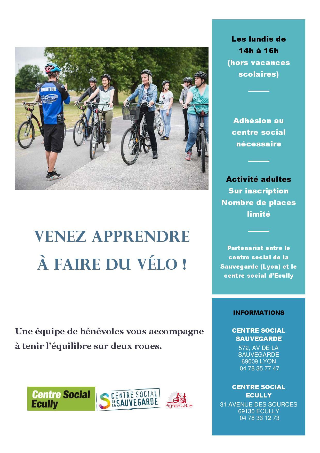 Vous rêvez d'apprendre à faire du vélo, un groupe de bénévoles vous accompagne
