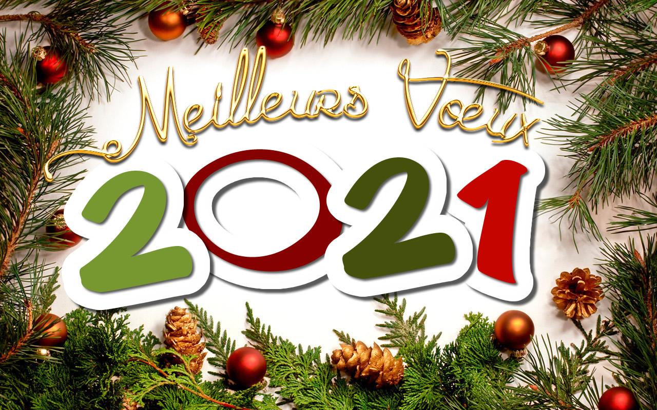Nos meilleurs vœux pour l'année 2021